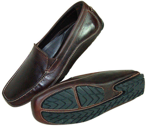 Men's Footwear - Hook's Hand Driving Moccasins In Old Briar By Country Club Prep