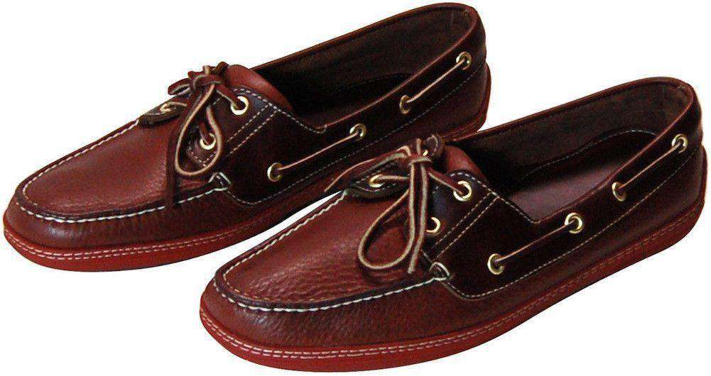 "Men's Footwear - ""I'm On A"" Boat Shoes In Lariat Leather By Country Club Prep"