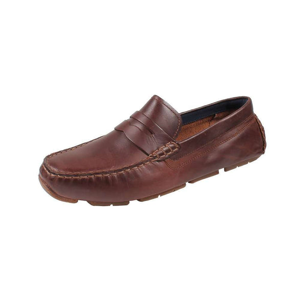 Men's Footwear - Kelson Penny Driver In British Tan By Cole Haan
