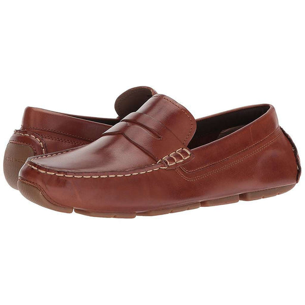 Men's Footwear - Kelson Penny Driver In Canyon Tan By Cole Haan