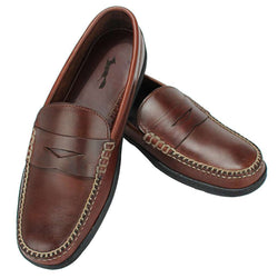 253f2d3e4cb90b Men s Footwear - Key West Penny Loafer Driver Shoes In Briar Brown By  Country Club Prep