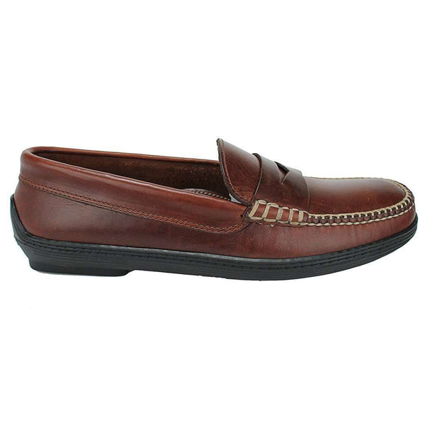 Men's Footwear - Key West Penny Loafer Driver Shoes In Briar Brown By Country Club Prep