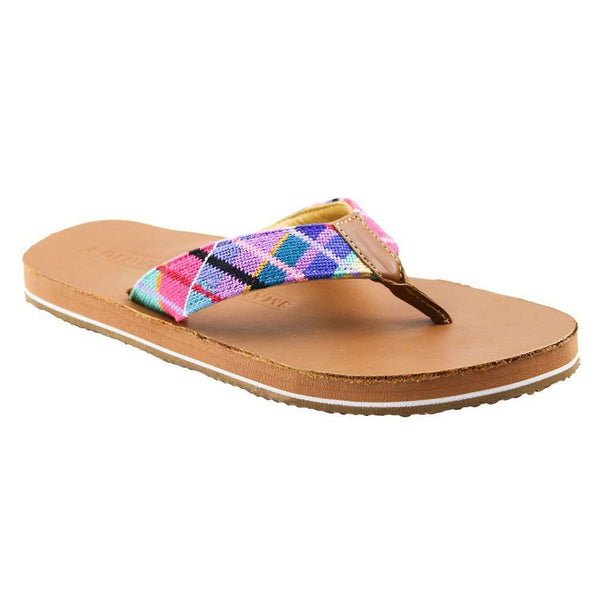 Men's Footwear - Limited Edition Madras Needlepoint Flip Flops By Smathers & Branson