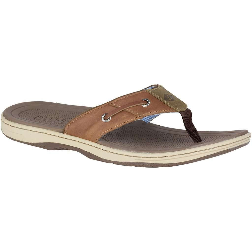 ffb98b4e449 Sperry Men s Baitfish Thong in Tan Leather – Country Club Prep