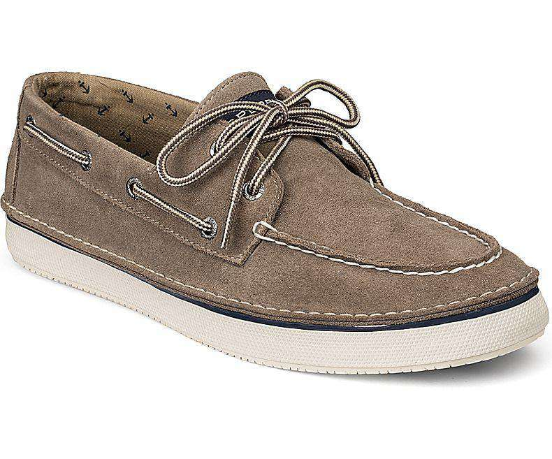 Men's Cruz Suede 2-Eye Boat Sneaker in Taupe Suede by Sperry