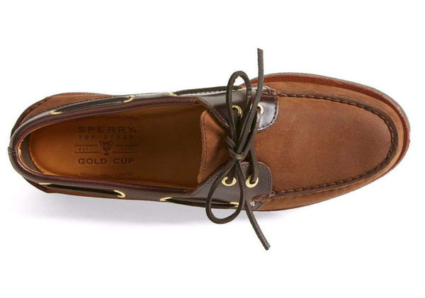 Men's Footwear - Men's Gold Cup A/O 2 Eye Boat Shoe In Brown/Buc Brown By Sperry