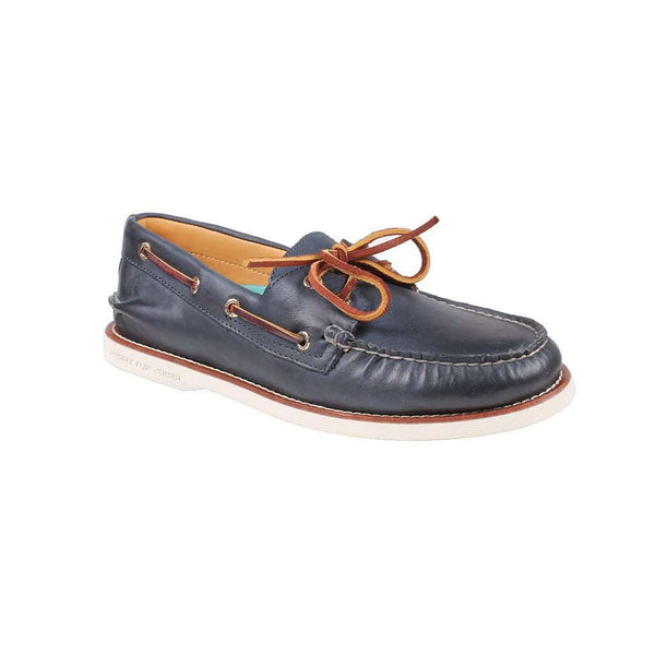 Men's Footwear - Men's Gold Cup Authentic Original Boat Shoe In Navy/White By Sperry