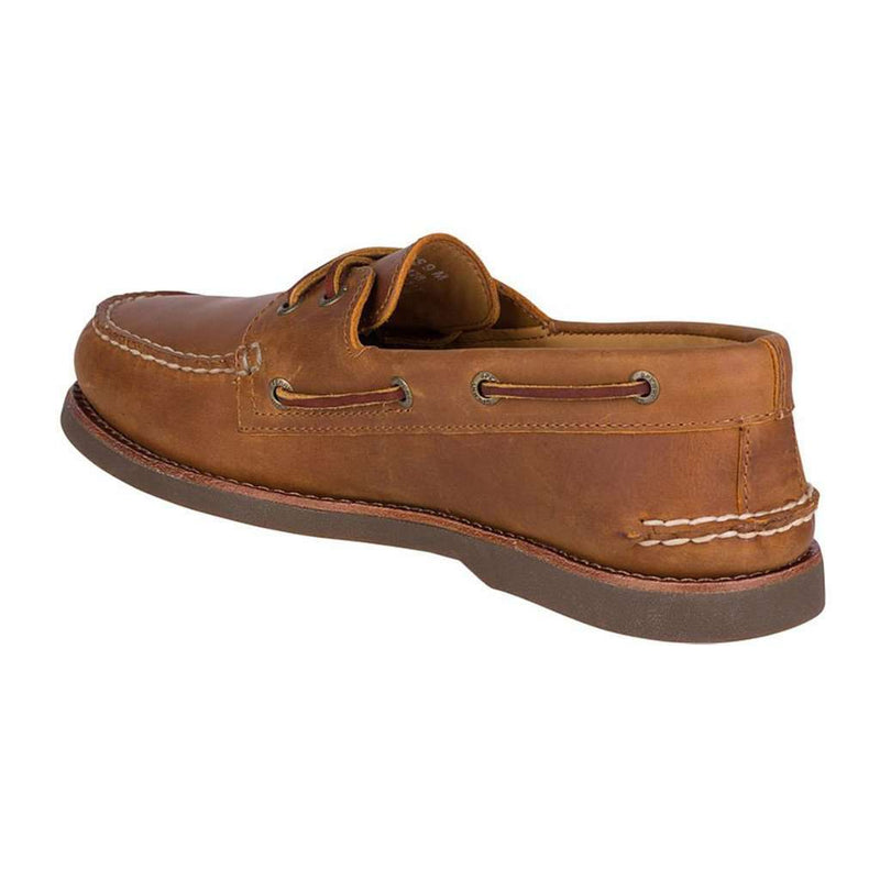 Men's Gold Cup Authentic Original Boat Shoe in Tan/Gum by Sperry