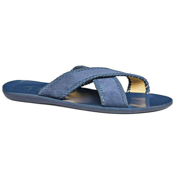 Men's Footwear - Men's Kane Suede Sandal In Blue By Jack Rogers - FINAL SALE