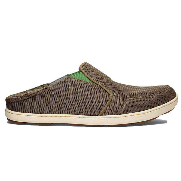 Men's Nohea Mesh Sneaker in Mustang Brown & Lime Peel by Olukai - FINAL SALE