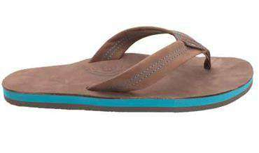 Men's Premier Blues Sandal in Expresso w/ Blue Midsole by Rainbow Sandals