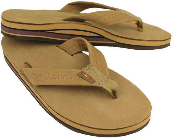 Men's Premier Leather Double Layer Arch Sandal in Sierra Brown by Rainbow Sandals