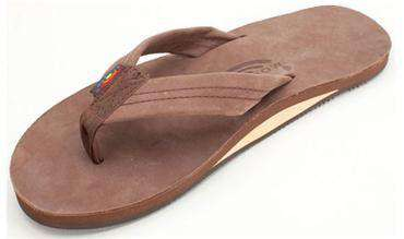 Men's Footwear - Men's Premier Leather Single Layer Arch Sandal In Expresso By Rainbow Sandals