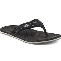 Men's Footwear - Men's Sharktooth Thong Sandal In Black By Sperry