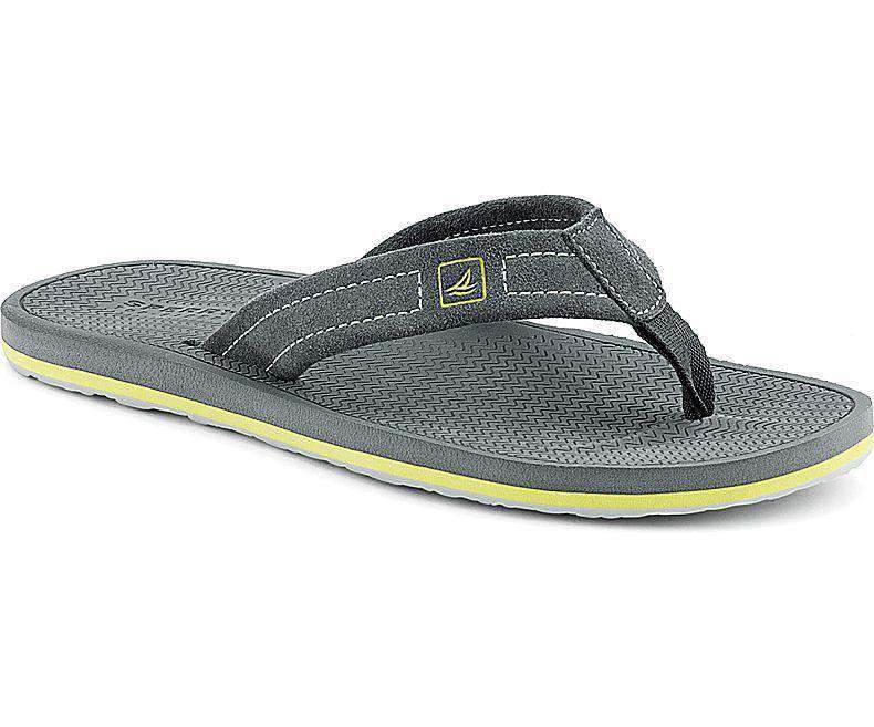 Men's Footwear - Men's Sharktooth Thong Sandal In Grey By Sperry