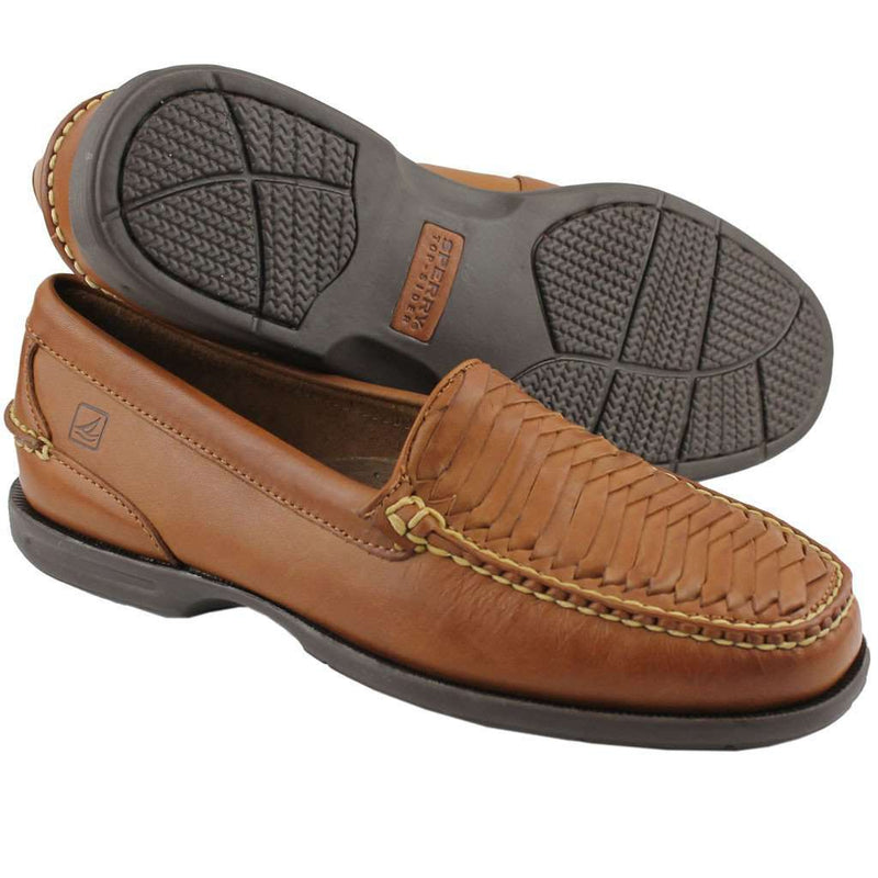 Men's Tremont Shoe in Woven Chestnut by Sperry