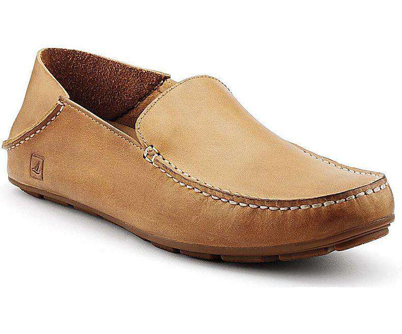 Men's Footwear - Men's Wave Driver Convertible Moc In Linen Leather By Sperry