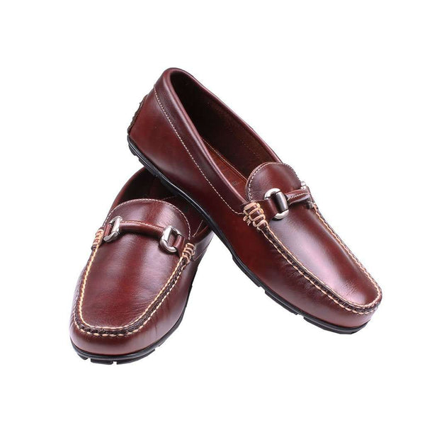 Men's Footwear - Milano Casual Driver In Briar Brown Waxy Leather By Country Club Prep