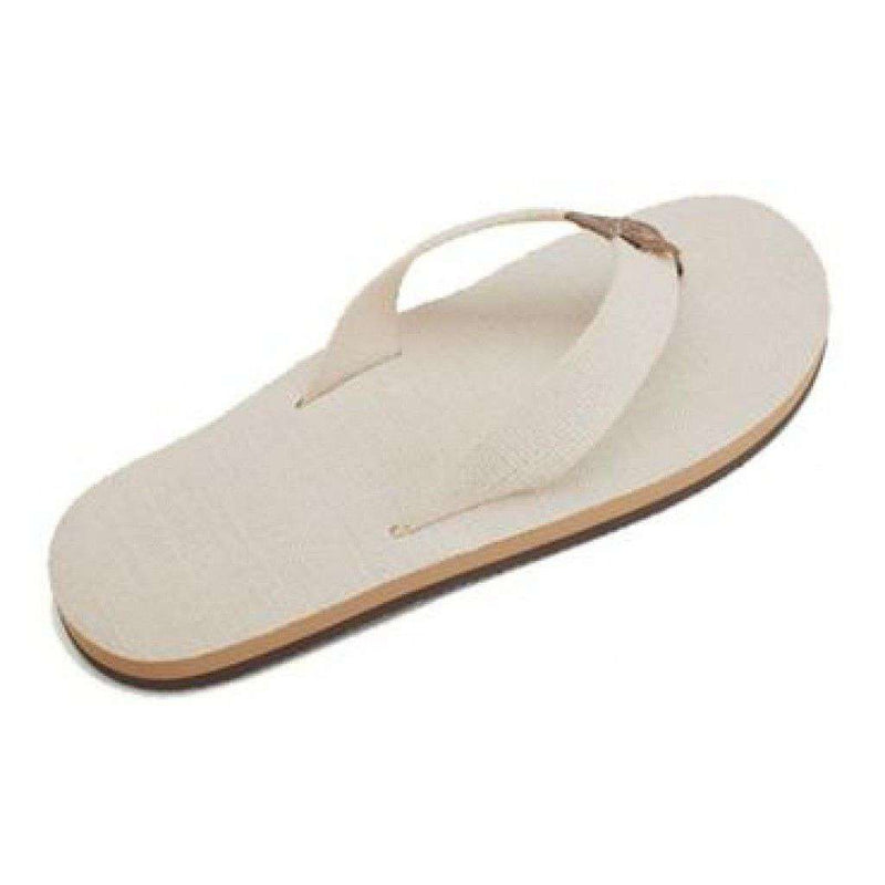 Men's Footwear - Natural Hemp Top And Strap Single Layer Arch Sandal By Rainbow Sandals