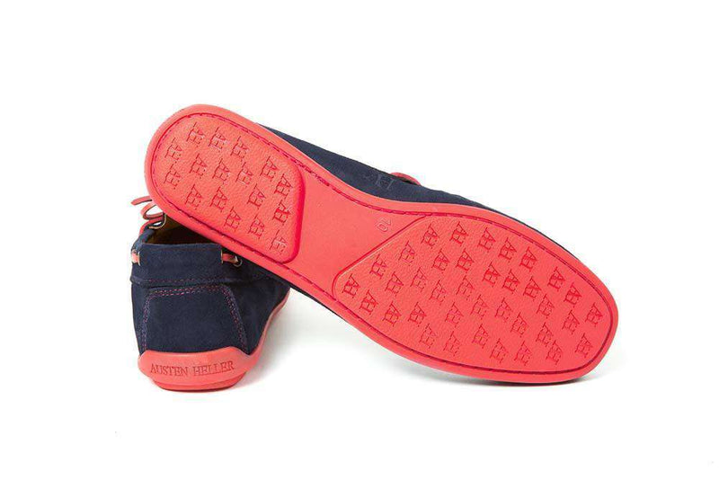Nobadeer Driving Loafers with Laces in Navy by Austen Heller