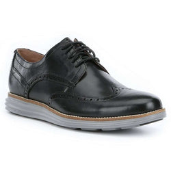 bb0c2323923 Men's Original Grand Wingtop Oxford in Black and Ironstone by Cole Haan