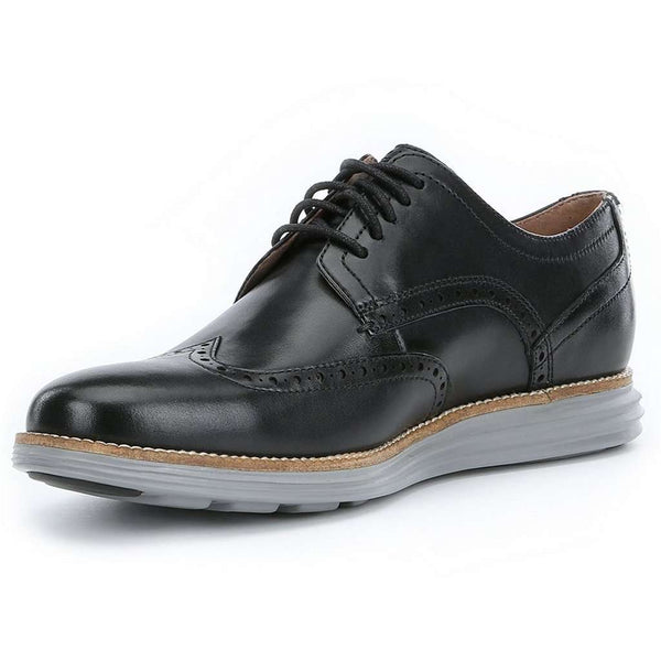 Men's Footwear - Original Grand Wingtop Oxford In Black And Ironstone By Cole Haan
