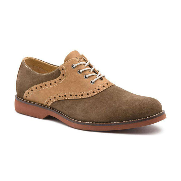 Men's Footwear - Parker Saddle In Olive And Tan By G.H. Bass & Co.