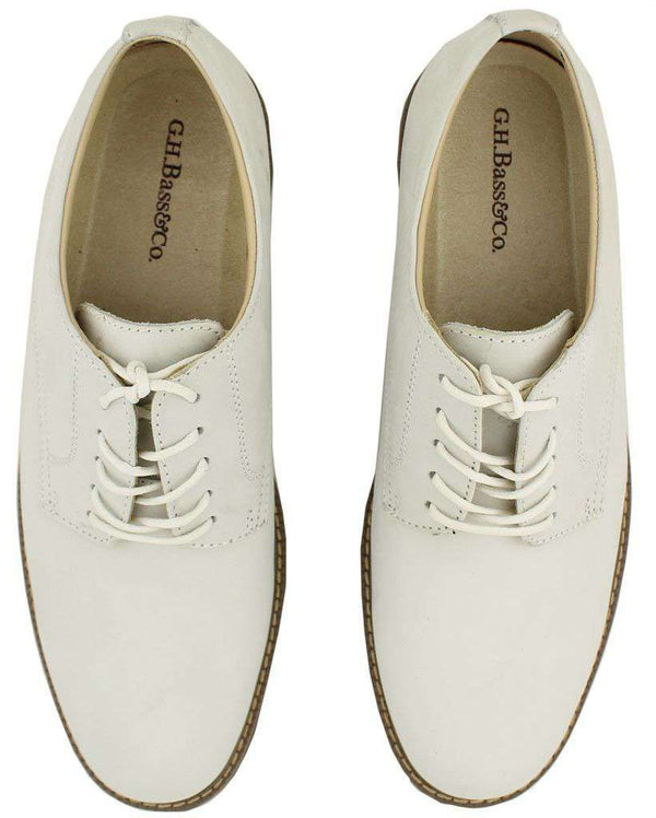 Men's Footwear - Pasedena Buc In White By G.H. Bass & Co.
