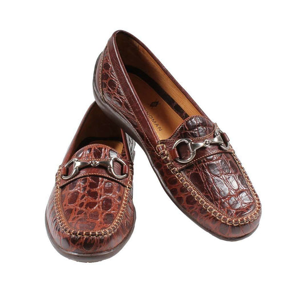 Saxon Horse Bit Loafer in Crocodile Grain Leather by Martin Dingman - FINAL SALE