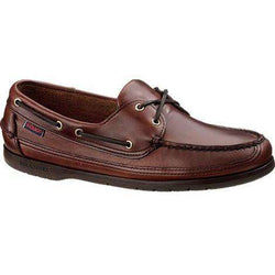 Men's Footwear - Schooner Boat Shoes In Brown Oiled Waxy With Brown Sole By Sebago - FINAL SALE