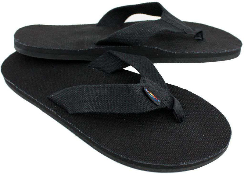 ac628241d Men s Footwear - Single Layer Hemp Top And Strap With Arch Support In Black  By Rainbow