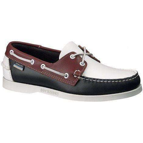Mens Sebago Spinnaker Brown Navy Grey Leather Nautical Boat Shoes SIZE 11