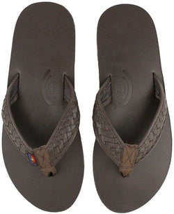 266290f10754 Men s Bentley Premier Leather Top and Woven Strap w  Arch Support in Classic  Mocha by Rainbow Sandals