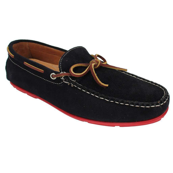 Men's Footwear - Verona Driver Shoes In Navy Suede By Country Club Prep