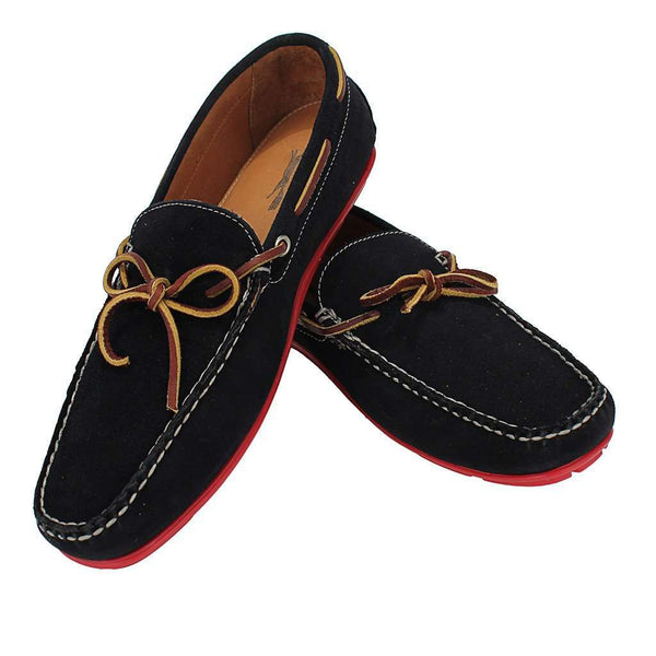 Men's Verona Driver Shoes in Navy Suede by Country Club Prep - FINAL SALE