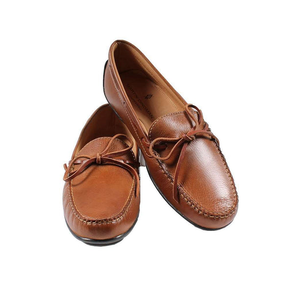 Walker Loafer in Pecan Tumbled Glove Leather by Martin Dingman - FINAL SALE
