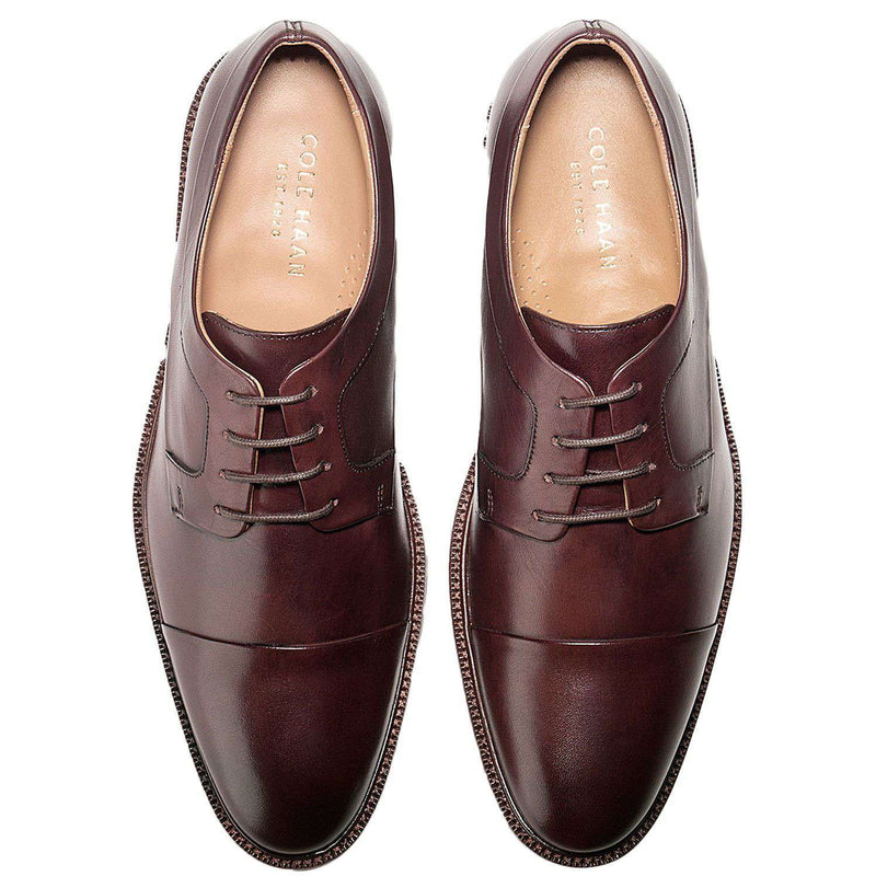 Men's Warren Cap Toe Oxford in T Moro Dark Brown by Cole Haan