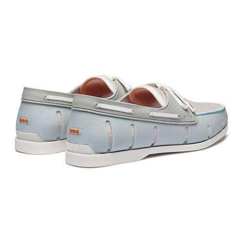 Men's Water Resistant Boat Loafer in Ice and White by SWIMS - FINAL SALE