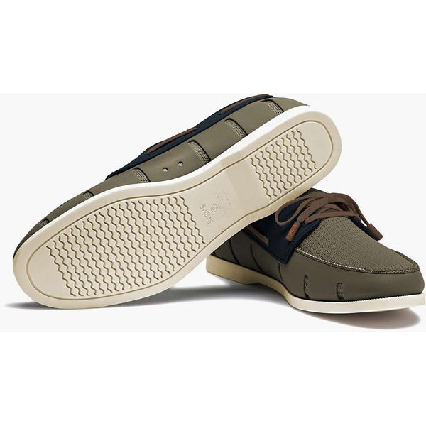 Men's Water Resistant Boat Loafer in Khaki and Navy by SWIMS - FINAL SALE