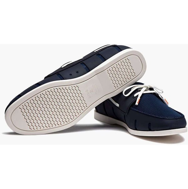 Men's Water Resistant Boat Loafer in Navy and White by SWIMS - FINAL SALE