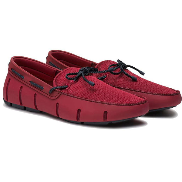 ea77f177d2c Men s Footwear - Water Resistant Braided Lace Loafer In Deep Red   Navy By  SWIMS ...