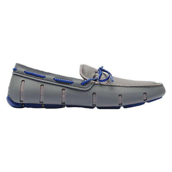 Men's Water Resistant Braided Lace Loafer in Gray/Blue by SWIMS - FINAL SALE