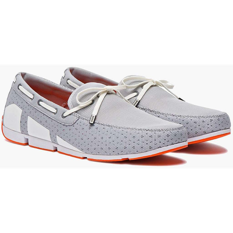 Men's Water Resistant Breeze Loafer in Grey, White and Orange by SWIMS - FINAL SALE