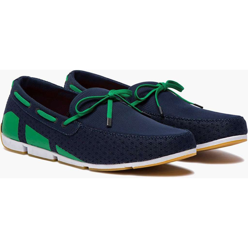 Men's Water Resistant Breeze Loafer in Navy, Green and White by SWIMS - FINAL SALE