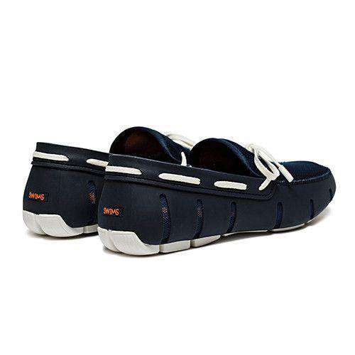 Men's Footwear - Water Resistant Lace Loafer In Navy/White By SWIMS