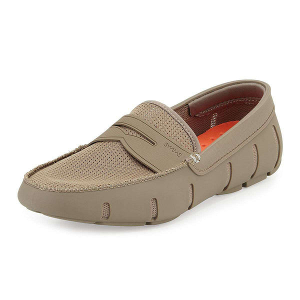 Men's Footwear - Water Resistant Penny Loafer In Khaki By SWIMS