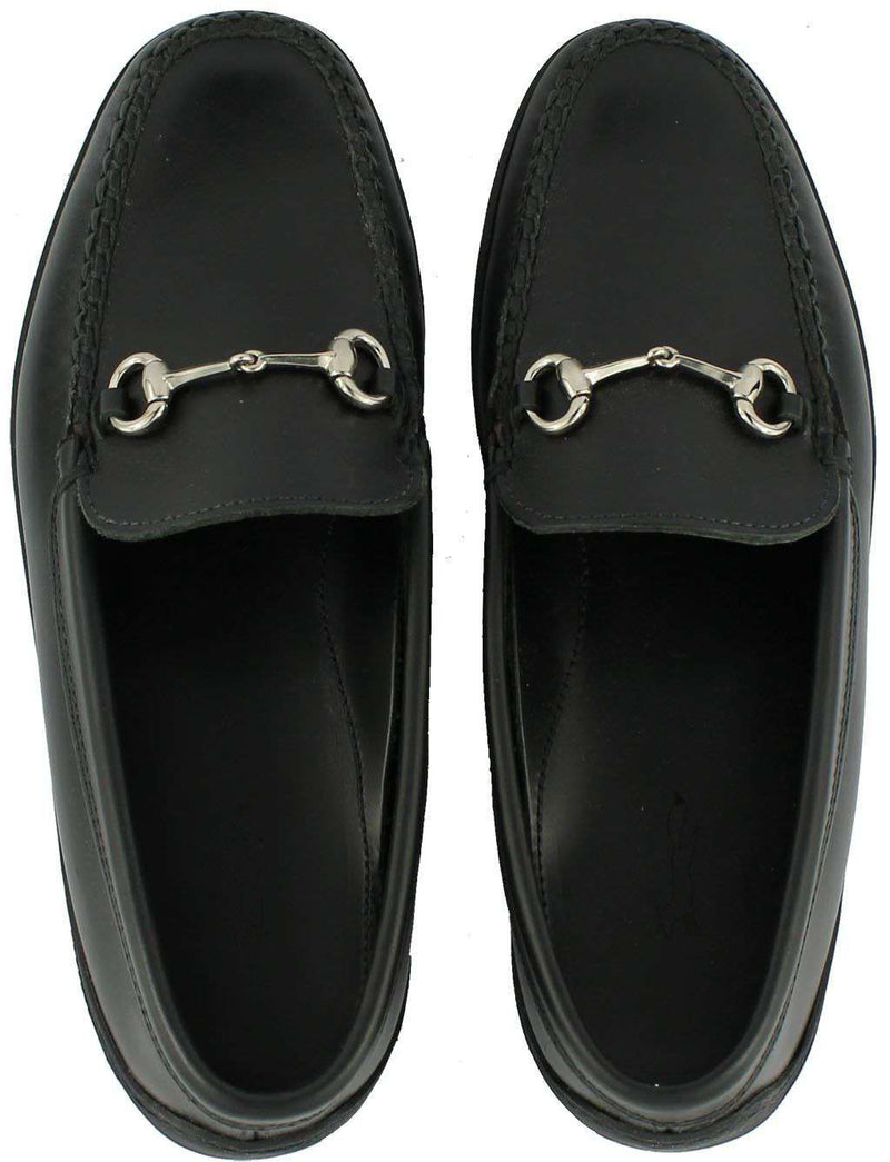 Men's Footwear - Young Partner Bit Driving Shoes In Black Waxy With Matching Stitching By Country Club Prep