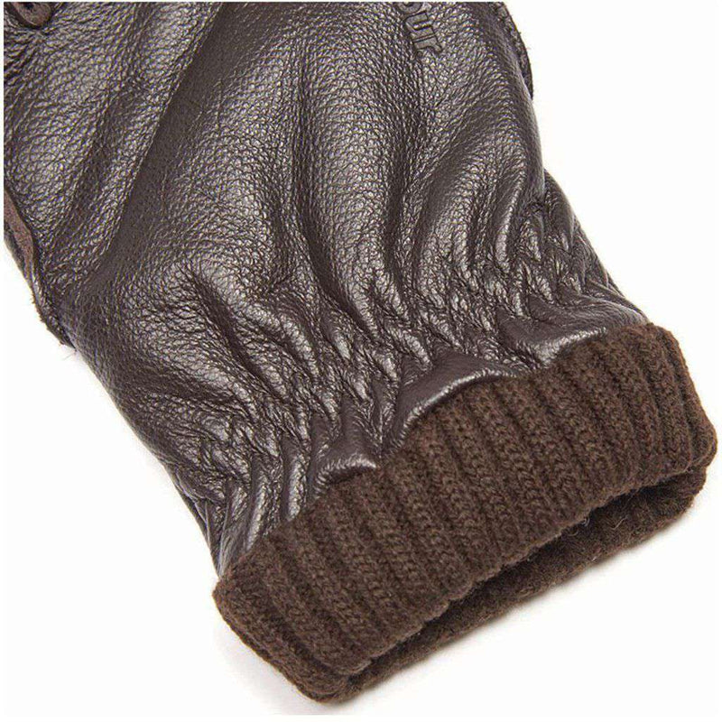Barrow Leather Gloves in Brown by Barbour - FINAL SALE