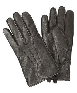 Men's Gloves - Harton Leather Gloves In Black By Barbour