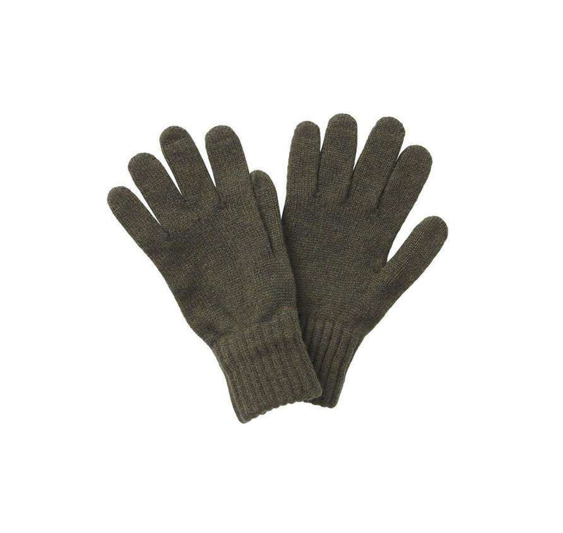 Men's Gloves - Lambswool Gloves In Olive By Barbour